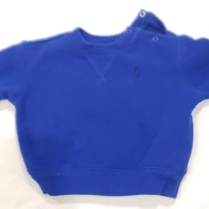 Baby polo royal blue sweater 6m